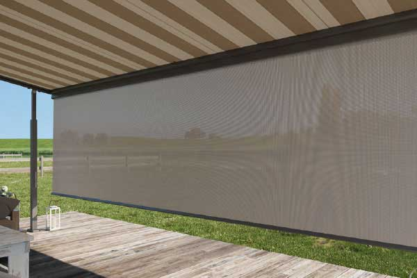Privacy screen for awning